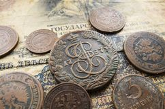 Coins of the Russian Empire Royalty Free Stock Photos