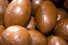 Old leather balls Royalty Free Stock Image