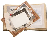 Pile of Vintage photos Royalty Free Stock Photo