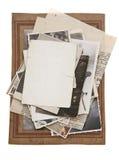 Pile of Vintage photos Stock Photo