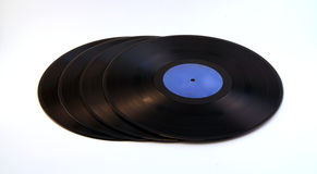 A pile of vinyl Royalty Free Stock Photos