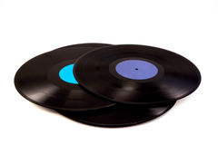 A pile of vinyl Stock Image
