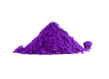Pile of violet powder. Isolated on white Royalty Free Stock Photo
