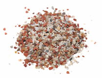 Pile vitamins and minerals for birds Stock Photos