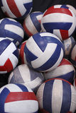 Pile of volleyballs Stock Image