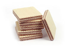 Pile of wafers Royalty Free Stock Photos
