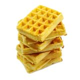Pile of waffles Royalty Free Stock Images