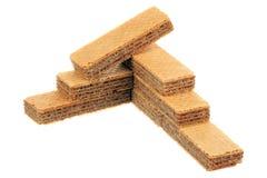 Pile of waffles Stock Image