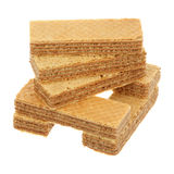 Pile of waffles Royalty Free Stock Photography