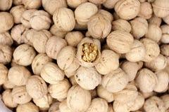 Pile of walnuts. Jinan,china Royalty Free Stock Image