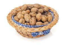 Pile of walnuts Stock Photos