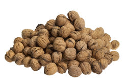 Pile of walnuts Stock Photo