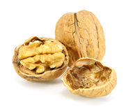 Pile walnuts Stock Photography