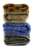 Pile of warm sweaters Stock Photo
