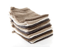 Pile of washcloths Royalty Free Stock Photo
