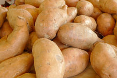 Pile of washed whole potatoes Stock Photos