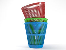 Pile waste bins Royalty Free Stock Photography