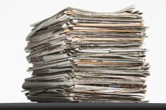 Pile of waste paper Stock Photography