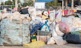 The pile of waste at the recycle yard Stock Image