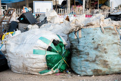 The pile of waste at the recycle yard Royalty Free Stock Photography