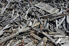 Pile of waste wood Stock Photos