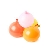Pile of water filled balloons isolated Royalty Free Stock Photography