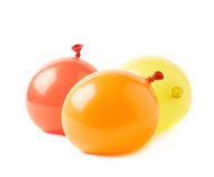 Pile of water filled balloons isolated Stock Images