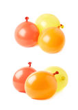 Pile of water filled balloons isolated Stock Photos
