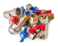 Pile of water valves Stock Images