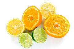 Pile of wet citrus Royalty Free Stock Image