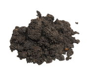 Pile wet soil isolated on white background Royalty Free Stock Photography