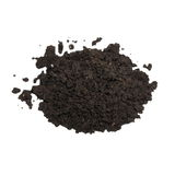 Pile wet soil isolated on white background Stock Images