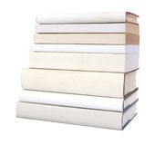 Pile of white books Royalty Free Stock Photography