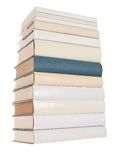 Pile of white books with one blue book Stock Images