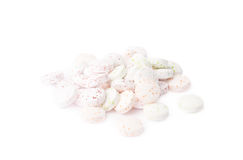 Pile of white breath mint candies isolated Royalty Free Stock Photo