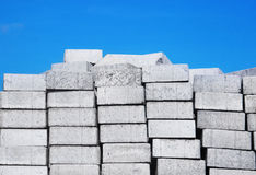Pile of white bricks Royalty Free Stock Photo