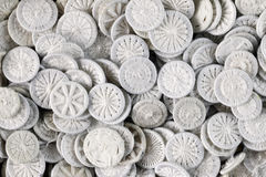 Pile of white buttons - knobs for bedding Stock Photography