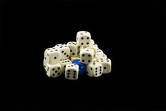 Pile of white dices Royalty Free Stock Images