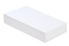 Pile of white paper. On a white background Royalty Free Stock Image