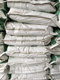 Pile of white paper sacks Royalty Free Stock Photos