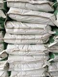 Pile of white paper sacks Royalty Free Stock Photos
