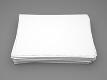 Pile of white paper Royalty Free Stock Photos