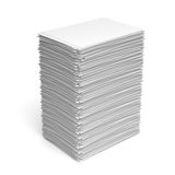 Pile of white paper sheets Stock Images