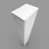 Pile of white paper sheets Royalty Free Stock Photography