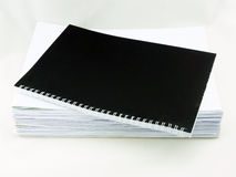Pile of white papers Royalty Free Stock Photos