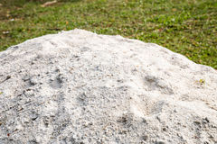 Pile of white sand for use as construction material Stock Photo