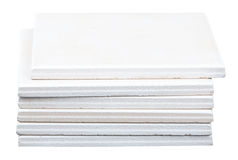 Pile of white tiles Stock Image