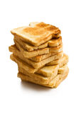 Pile of white toasted bread Stock Images
