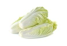Pile of whole fresh Chinese cabbage on white Stock Photo