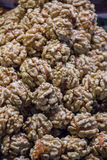 Pile of whole walnuts  without nutshells Stock Image